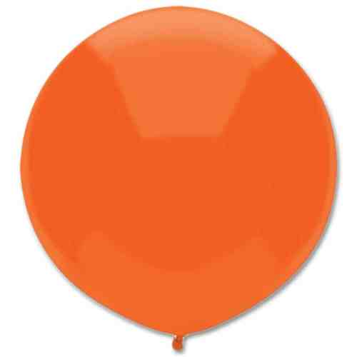 Latex Party Balloon 17 Round Bright Orange from Balloons Shop NYC