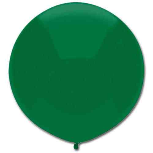 Latex Party Balloon 17 Round Forest Green