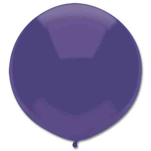 Latex Party Balloon 17 Round Regal Purple from Balloons Shop NYC