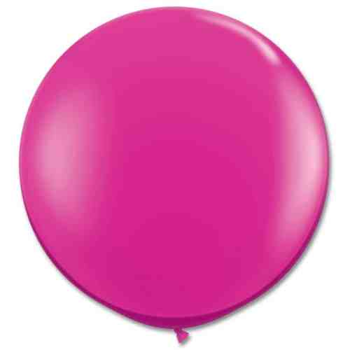 Latex Party Balloon 36 Inch Round Magenta from Balloons Shop NYC