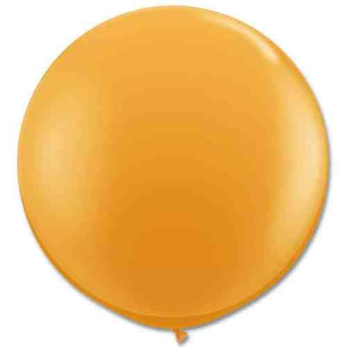 Latex Party Balloon 36 Inch Round Mandarine Orange from Balloons Shop NYC