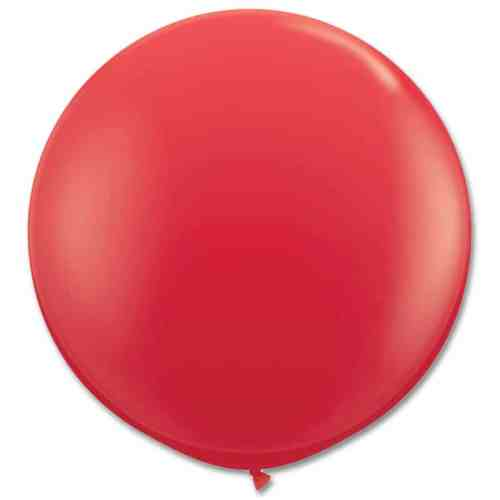 Latex Party Balloon 36 Inch Round Red from Balloons Shop NYC