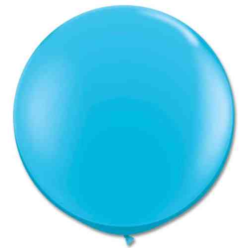 Latex Party Balloon 36 Inch Round Robin Egg Blue from Balloons Shop NYC
