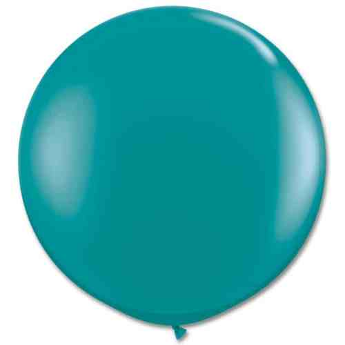 Latex Party Balloon 36 Inch Round Teal from Balloons Shop NYC