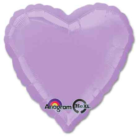 Lilac Heart Shape 18 Inch Mylar Party Balloon from Balloons Shop NYC