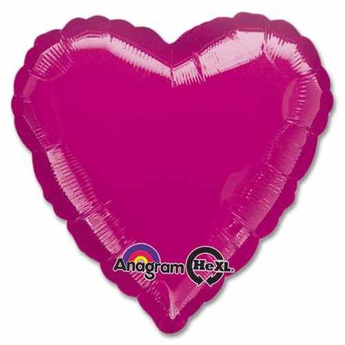 Metallic Fuchsia Heart Shape 18 Inch Mylar Party Balloon from Balloons Shop NYC