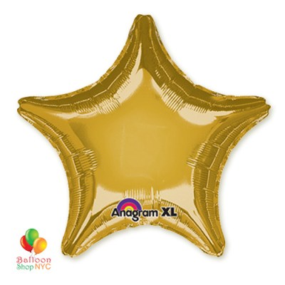 Metallic Gold Foil Star 19 Inch Inflated high-quality cheap balloons nyc delivery