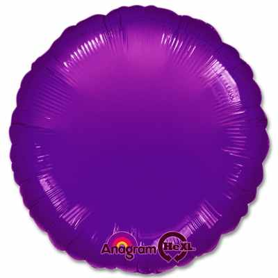 Metallic Purple Circle 18 Mylar Party Balloon from Balloons Shop NYC
