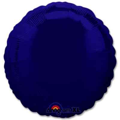Navy Blue Circle 18 Mylar Party Balloon from Balloons Shop NYC