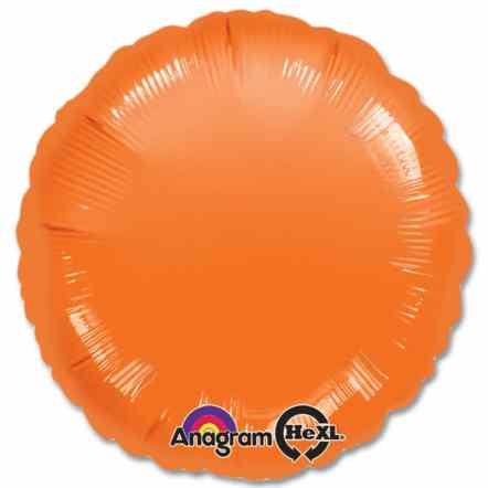 Orange Circle 18 Mylar Party Balloon from Balloons Shop NYC