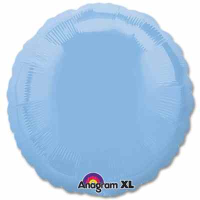 Pastel Blue Circle 18 Mylar Party Balloon from Balloons Shop NYC