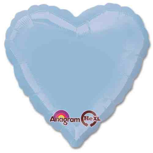 Pastel Blue Heart Shape 18 Inch Mylar Party Balloon from Balloons Shop NYC