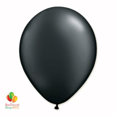 Black Pearl Latex Party Balloon 12 inch Inflated delivery Balloon Shop NYC