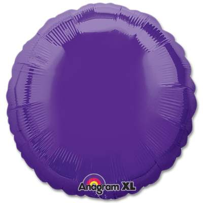 Quartz Purple Circle 18 Mylar Party Balloon from Balloons Shop NYC