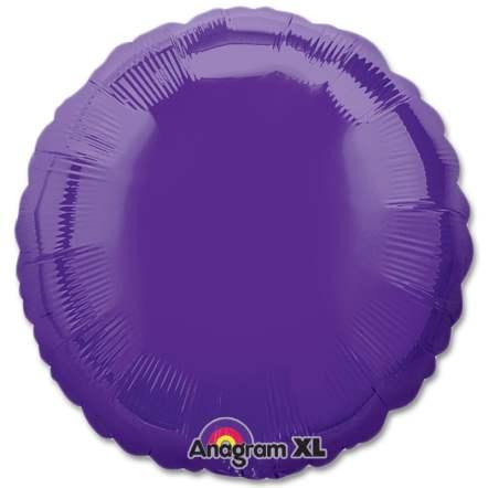 Quartz Purple Circle 18 Mylar Party Balloon from Balloons Shop NYC