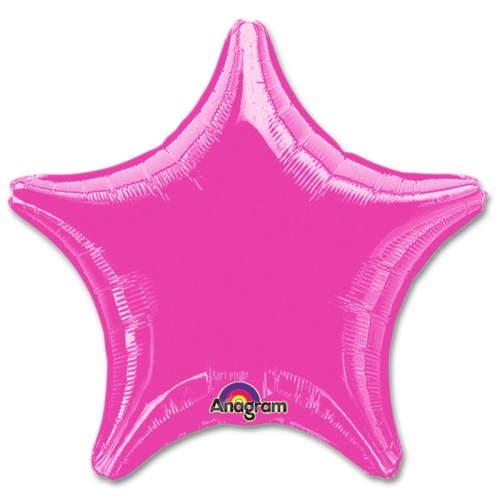 Rose Star Solid Color Foil Party Balloon 19 inch from