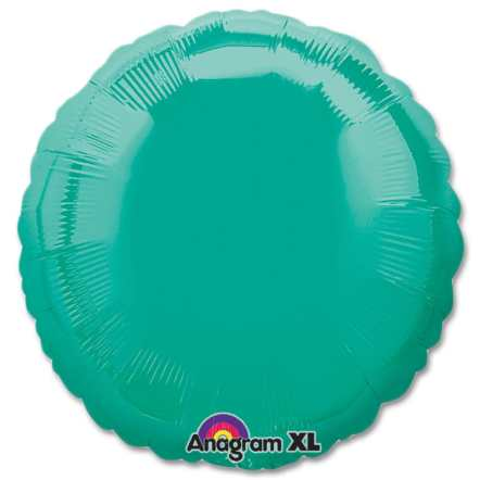 Teal Circle 18 Mylar Party Balloon from Balloons Shop NYC