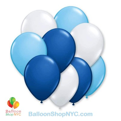 Ultimate Blue 12 inch Latex Party Balloons Bouquet Inflated high-quality cheap balloons nyc delivery