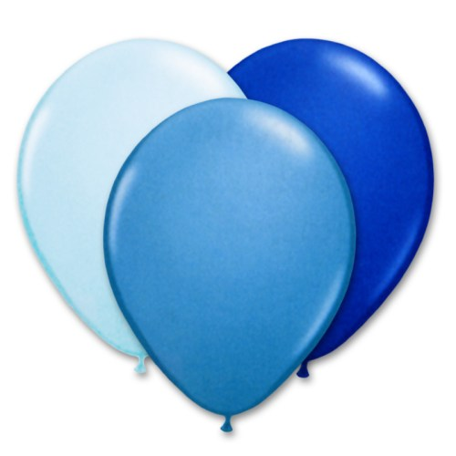 Ultimate Blue Latex Party Balloons 12 inch from Balloon Shop NYC