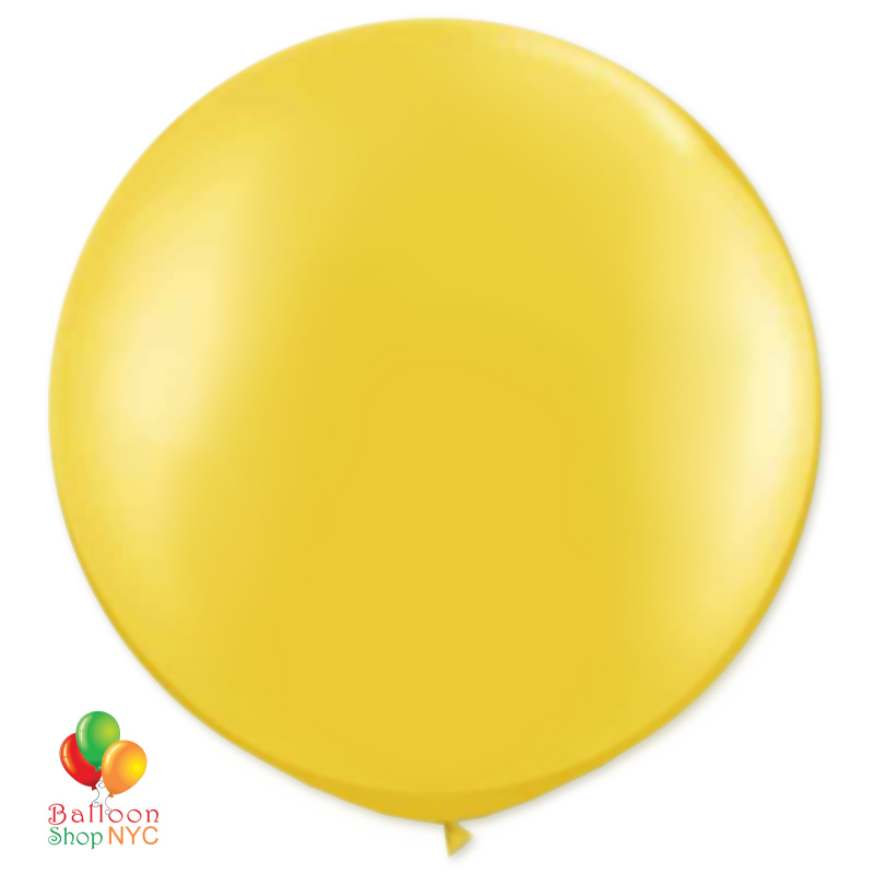 """24 Latex Balloons 12/"""" When Inflated Solid Colors Yellow"""