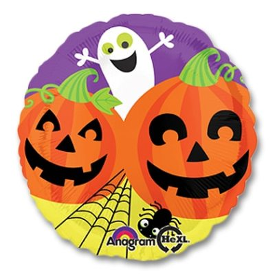 Halloween Ghost Pumpkin Party Mylar Balloon from Balloons Shop NYC