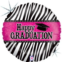 Happy Graduation Zebra Balloon Holographic Balloon 86882