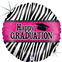 Happy Graduation Zebra Balloon Holographic Balloon 86882
