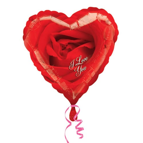 valentines day mylar balloon i love you rose 18 inch - balloon, Ideas