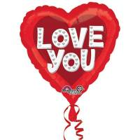 Valentines Day Mylar Balloon Love You Silver Hearts 28 Inch delivery from Balloon Shop