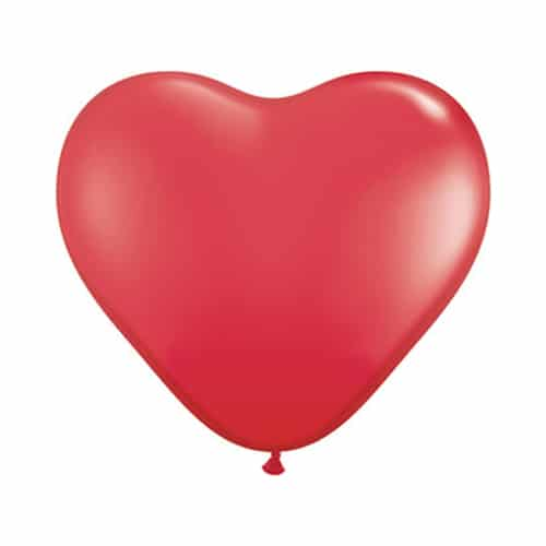 Valentines Day Mylar Balloon Red Heart 15 Inch delivery from Balloon Shop NYC