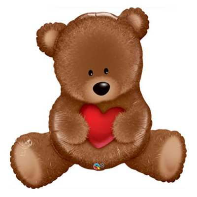 Valentines Day Mylar Balloon Teddy Bear Love 35 Inch delivery from Balloon Shop NYC