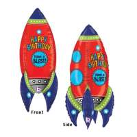 Bday Rocket Dimensional Jumbo Balloon delivery from Balloon Shop NYC