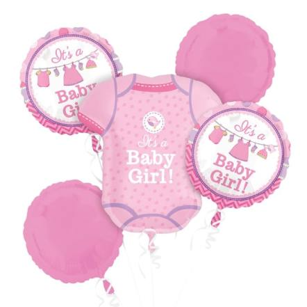 Shower With Love Girl Helium Balloon Bouquet delivery from Balloon Shop NYC