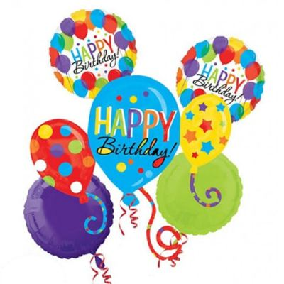 Happy Birthday Balloon Bash Bouquet Delivery from Balloon Shop NYC