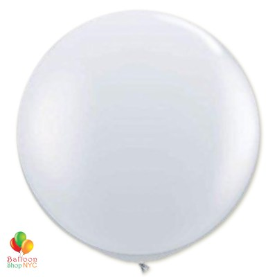 Crystal Clear Latex Party Balloon 17 inch Round Inflated delivery Balloons Shop NYC