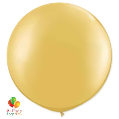 Metallic Gold Latex Party Balloon 17 inch Round Inflated cheap balloons nyc delivery