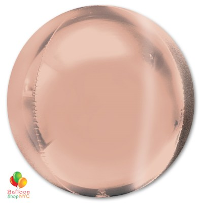 Rose Gold Round ORBZ Balloon 16 Inch Inflated high-quality cheap balloons nyc delivery