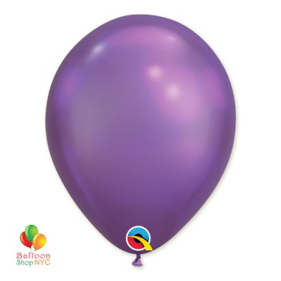 Chrome Purple Latex Party Balloon 11 inch Inflated delivery Balloon Shop NYC