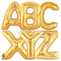 Express Order Gold Letters Giant Foil Balloon 40 Inch Inflated delivery from Balloon Shop NYC