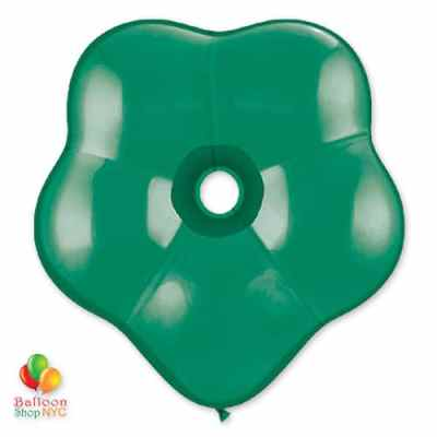 GEOEmerald Green Geo Blossom Latex Party Balloon delivery from Balloon Shop NYC BLOSSOM EMERALD GREEN Latex 16 delivery from Balloon Shop NYC