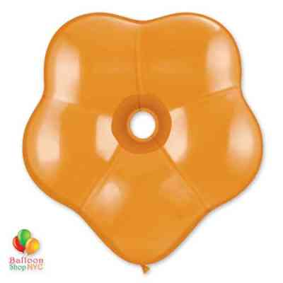 Orange Geo Blossom Latex Party Balloon delivery from Balloon Shop NYC