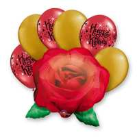 Rose Hugs Kisses Mothers Day Balloon Bouquet delivery from Balloon Shop NYC