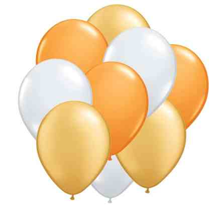 Ultimate Yellow Gold Balloons Bouquet Delivery from Balloons Shop NYC
