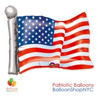 American Flag Supershape Patriotic Mylar Balloon 27 Inch Inflated delivery from Balloon Shop NYC
