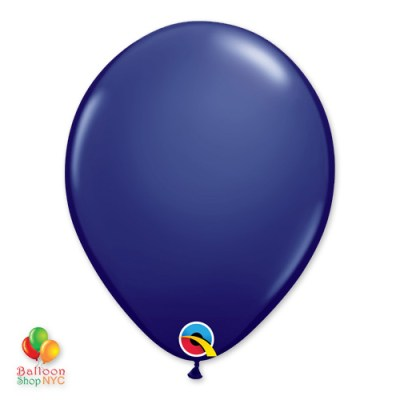 Navy Blue Latex Party Balloon 12 inch Inflated delivery Balloon Shop NYC