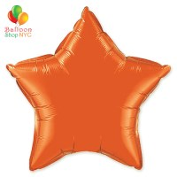Orange Star Mylar Balloon Rainbow Collection 20 inch Inflated delivery Balloon Shop NYC