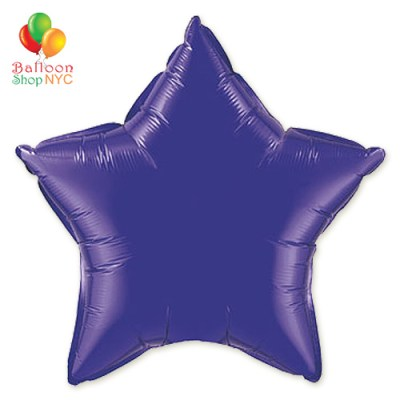 Purple Star Mylar Balloon Rainbow Collection 18 inch Inflated delivery Balloon Shop NYC