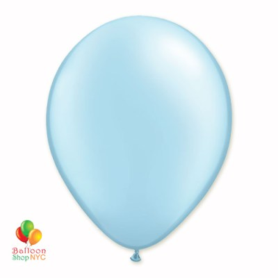 Light Blue Pearl Latex Party Balloon 12 Inch Inflated delivery Balloon Shop NYC