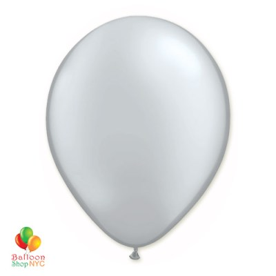 Silver Latex Party Balloon 12 Inch Inflated delivery Balloon Shop NYC