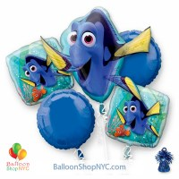 Finding Dory Mylar Balloon Bouquet Inflated high-quality cheap balloons nyc delivery